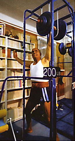 Sri Chinmoy's 200lb lift